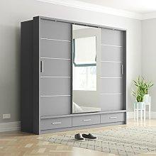 Tengan 3 Door Sliding Wardrobe Brayden Studio