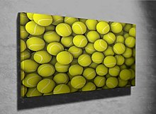 Tennis Balls 3D Photo Canvas Print (44445007) 3D