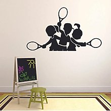 Tennis Team Wall Decals Sports Silhouette Kids