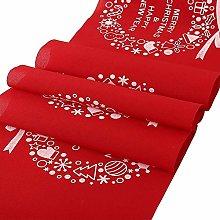 Tenrany Home Christmas Table Runner, 270x28cm Red