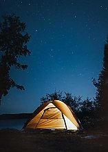 Tent by The Lake, 1000 Pieces Wooden Puzzles of