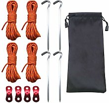 Tent Camping Rope, with Aluminum Tensioners and