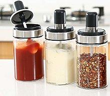 TENTA KITCHEN 3 High Borosilicate Glass Spice Jars