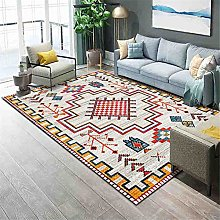 TEPPICH-CY-ZK Carpets Soft Rug Red yellow cream