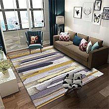 TEPPICH-CY-ZK Soft Bedside Carpet Yellow purple