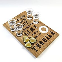 Tequila Flight Board Tequila Gifts Shot Glass