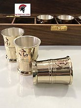 Tequila Shot Glass with Anchor Monogram in