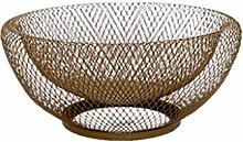 Teri Fruit Bowl Metal Mesh Countertop Fruit Basket