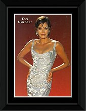 Teri Hatcher - Silver Dress Framed and Mounted