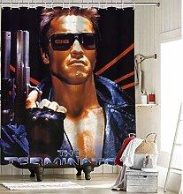 Terminator Movie Fabric Shower Curtain Liner