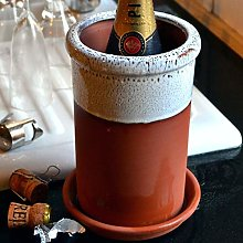 Terracotta Wine Cooler - Oyster Glaze