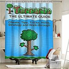 Terraria Para Game Farmhouse Shower Curtain with