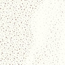 Terrazzo Fleck Wallpaper Cream Metallic Shimmer