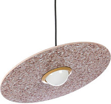 Terrazzo Planet Pendant - / Adjustable disk by XL