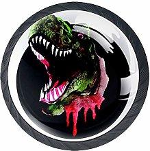 Terror Tyrannosaurus Crystal Door Knobs Glass