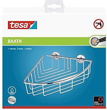 Tesa Baath Plus Chrome Corner Shower Caddy with