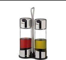 Tescoma - Oil And Vinegar Set - Silver/White
