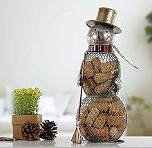 Tesysyet Brown Christmas Snowman Cork Canister TV