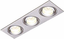 Tetra Downlight in Brushed Silver