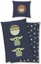 TexIdea Disney Reversible Bedding Set Baby Yoda
