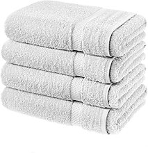 TEXTILE ARENA 4 PACK BATH SHEETS 100% COTTON