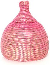 Textile Candy - Decorative Pink African Storage