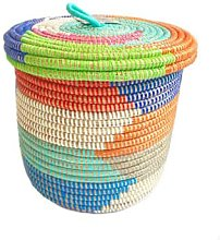 Textile Candy - Rainbow Lidded Storage Basket