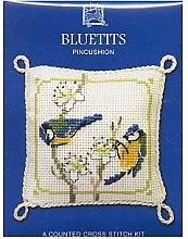 Textile Heritage Bluetits Pin Cushion Cross Stitch