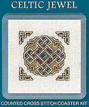 Textile Heritage Coaster Kit - Celtic Jewel