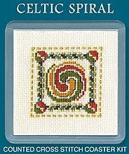 Textile Heritage Coaster Kit - Celtic Spiral