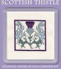 Textile Heritage Coaster Kit - Scottish Thistle