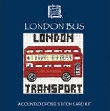 Textile Heritage London Bus Miniature Card Cross