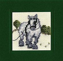 Textile Heritage Shire Horse - A Counted Cross