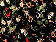 Textile London Black Italian Velvet Printed Fabric