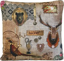 Textile London Deer Hunting Lodge Cabin Cushion