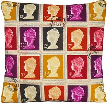 Textile London Stamps Cushion Cover First Class