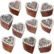 Textile Print Blocks Jaipuri Small Heart Pattern