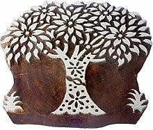 Textile Printing Block Large Floral Tree Pattern