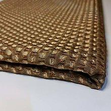Textile Station Golden Brown Coarse Weave Jacquard