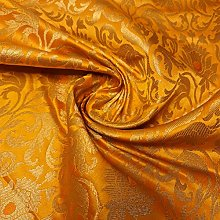 Textile Station (Mustard Yellow) Floral gold