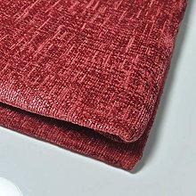 Textile Station Red Chenille Velvet Shimmering