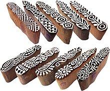 Textile Wooden Blocks Innovative Border Design