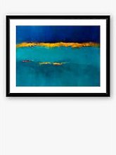 Texture 1 - Framed Print & Mount, 66 x 86cm, Blue