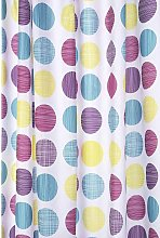 Textured Dots Textile Shower Curtain - Croydex