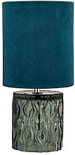 Textured Glass Base Table Lamp
