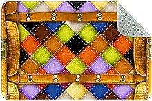 Textured Suitcase Pattern Door Mat, Machine