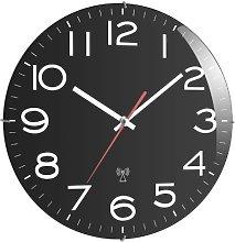 TFA 60.3509 Wall Clock Radio-Controlled Black