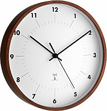TFA Dostmann Analogue Radio Wall Clock with Wooden