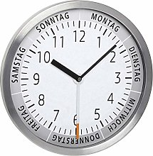 TFA Dostmann Analogue Wall Clock with Day of The