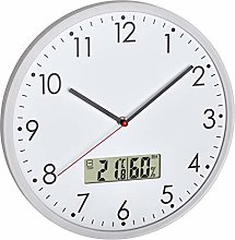 TFA Dostmann Analogue Wall Clock with Digital